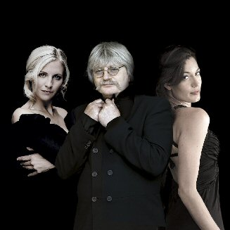 Left to right: Alison Balsom (trumpet), Karl Jenkins and Kate Royal (soprano).
